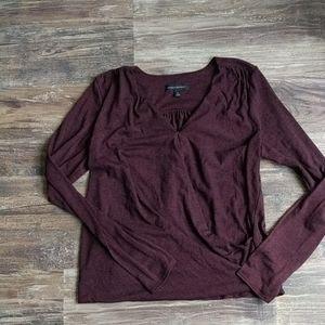 Wine colored wrap sweater Sz M
